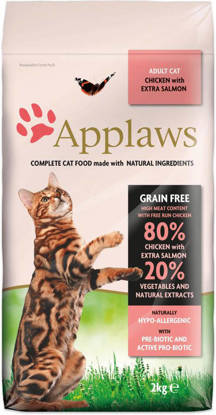 Picture of Applaws Adult Cat Chicken with extra Salmon Dry - 2kg