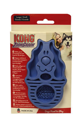 Picture of Kong Zoomgroom Dog Brush - Blue